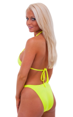 Womens Classic Triangle Swimsuit Top in Chartreuse 3