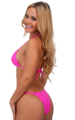 Skinny Side Rio Bikini Bottom in Hot Pink 3