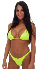 Womens Hooked Swimwear Thong Swimsuit Bottom in Chartreuse 1