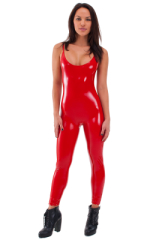 CamiCat-Catsuit-Bodysuit in Superstretch Gloss Red Vinyl 1
