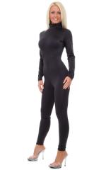 Back Zipper Catsuit-Bodysuit in Black nylon/lycra 1