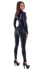 Front Zipper Catsuit-Bodysuit in Mystique Black on Black 4