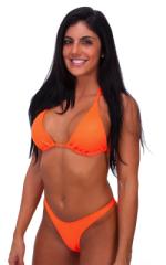 Womens Shaped Triangle Posing Top in Neon Orange 4