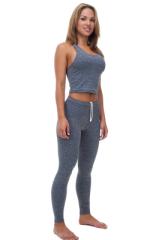 Crop Top in Dark Heather Grey Cotton-Spandex 10oz 1