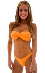 Womans Full Twistie Bandeau Swim Top in Neon Neon Orange 1
