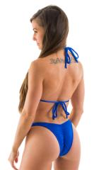 High Cut - Half Back - Scrunchie Swimsuit Bottom in Royal Blue 3