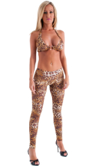 Womens Palm Beach Halter Swim Top  in Jungle Kat 1