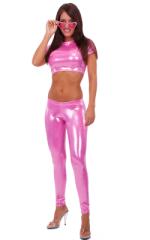 Baby Doll in Metallic Mystique Bubblegum nylon/lycra 1