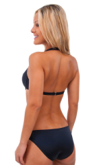 Womens Sport Style Underwire Swimsuit Top in Black 3