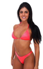 Womens Posing Suit Narrow Back in Brilliant Coral 1