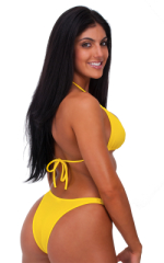 Womens Posing Suit Narrow Back in Citron Yellow 3