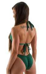 Womens Shaped Triangle Posing Top in Hunter Green 3