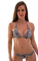 Womens Low Cut Runched Bikini Bottom in Lightwaves 5