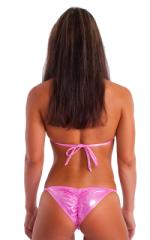 Womens NPC-IFBB Competition Bikini in Metallic Bubblegum Pink Mystique 3