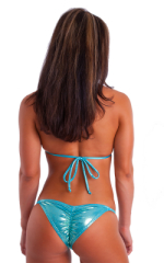 Brazilian Pucker Butt Bikini in Metallic Mystique Hawaii-Mint 3