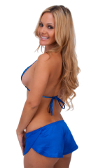 Womens SusieQ Split Short Beach Cover-Up in Royal Blue 3