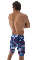Swim-Dive Competition Watersports Shorts in American Flag Collage 3