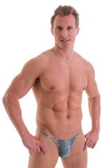 Sunseeker2 Tanning Swimsuit in Aqua Python Print on Mesh 1