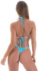 High Cut Thong Bottom in Vapor Wave Teal 5