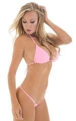 Brazilian Triangle Swim Top in Barbie Pink 4