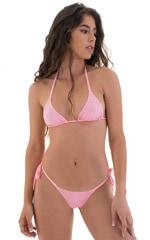 Side Tie Scrunch Bottom in Barbie Pink 5