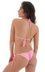 Side Tie Scrunch Bottom in Barbie Pink 3