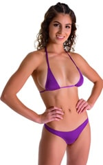 Maximum Tanning Triangle Top in ThinSkinz Grape .5
