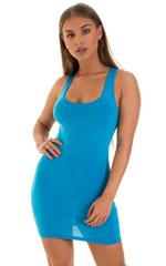 Micro Mini Dress in ThinSKINZ Sapphire 1