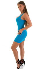 Micro Mini Dress in ThinSKINZ Sapphire 5