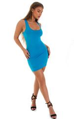 Micro Mini Dress in ThinSKINZ Sapphire 6