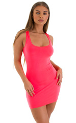 Micro Mini Dress in ThinSKINZ Neon Coral 1