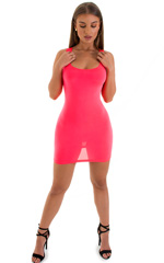 Micro Mini Dress in ThinSKINZ Neon Coral 4