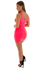 Micro Mini Dress in ThinSKINZ Neon Coral 5