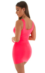 Micro Mini Dress in ThinSKINZ Neon Coral 3