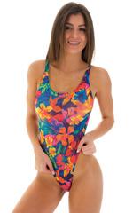 Baywatch One Piece Swimsuit in Tahitian Tan Through 1