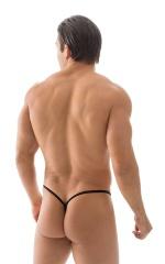 Micro Teardrop G String Swim Suit in ThinSKINZ Black 3