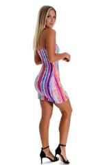 Mini Strapless Bodycon Dress in BoHo Stripe 3