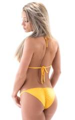 Brazilian Pucker Butt Bikini in ThinSKINZ Sunset Yellow 3