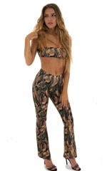 Tanning Bandeau Swimsuit Top in Camo 1