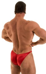Posing Suit - Fitted Pouch - Puckered Back in Wet Look Lipstick Red 3