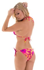 Low Rise Side Tie Brazilian Bikini Bottom in Tahitian Sunset 3