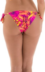 Low Rise Side Tie Brazilian Bikini Bottom in Tahitian Sunset 4
