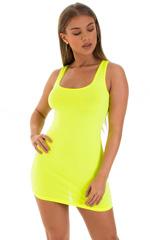 Micro Mini Dress in ThinSKINZ Chartreuse 1
