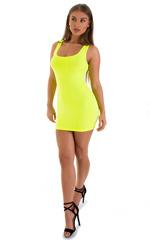 Micro Mini Dress in ThinSKINZ Chartreuse 4