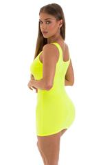 Micro Mini Dress in ThinSKINZ Chartreuse 3