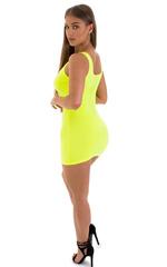 Micro Mini Dress in ThinSKINZ Chartreuse 5