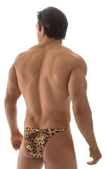 Stuffit Pouch Half Back Tanning Swimsuit in Jungle Kat 3