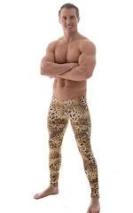 Mens SUPER Low Leggings Tights in Jungle Kat 1