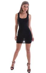 Micro Mini Dress in ThinSKINZ Black 4