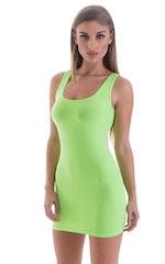 Micro Mini Dress in ThinSKINZ Neon LIme 1